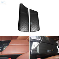 Carbon Fiber Style Interior Console Armrest Cover Trim For BMW 5 Series F10 F18