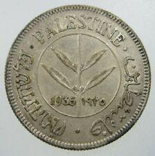 PALESTINE 50 MIL 1935 BRITISH MANDATE ISRAEL 74# BANK WORLD MONEY COIN