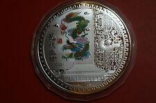 6) China Medaille oder Münze?! vermutlich Silber, 336 Gramm, Durchmesser 12 cm.