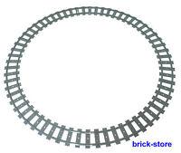 LEGO® Eisenbahn 1x Schienenkreis / 16x gebogne Schienen ,60051,60052,,10254