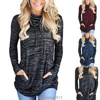 Womens Long Sleeve Hoodie Sweatshirt Sweater Hooded Jumper Coat Pullover Tops