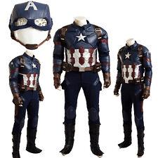Hot Captain America 3 Civil War Cosplay Costume Custom Size Full Suit Mask
