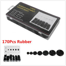 170Pcs Auto Car Rubber Grommet Firewall Hole Plug Set Electrical Wire Gasket Kit