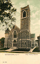 Vintage Postcard Holy Family Church Watertown NY Jefferson County