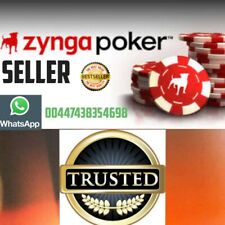 ✅FB ZYNGA POKER CHIPS🇬🇧KING OF CHIPS Safe Fast Transfer 100%(READ DESCRIPTION)