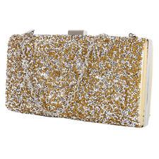 Women Ladies Glitter Clutch Bag Purse Evening Party Bridal Prom Handbag Chain