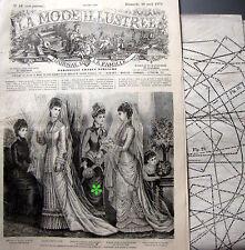 LA MODE ILLUSTREE + PATRON,  n° 16/1879 Voir modèles à réaliser, FRENCH PATTERN