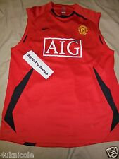 Nike Fit Dry Manchester United Red Devil AIG Shirt Jersey Size XL Soccer