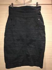 River Island No Pattern Knee Length Stretch, Bodycon Women's Skirts