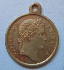 Napoleon Ier médaillette laiton tombeau Invalides / brass medalet emperor's tomb