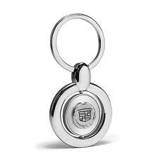 Cadillac Logo Silver Spinner Key Chain, Key Fob, Key Ring