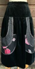 Vintage Koos Van Den Akker Skirt Designer Vintage Velvet Boho Peasant Patchwork