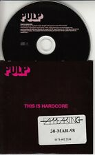 PULP This Is Hardcore 1998 UK 12-track promo CD Jarvis Cocker