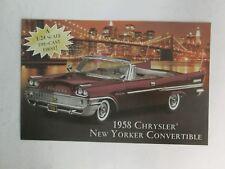 Danbury Mint Brochure 1958 Chrysler New Yorker Convertible
