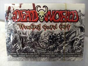 SEALED DEADWORLD TRADING CARD SET - BREYGENT Base Set, 2 Sketch Cards, More