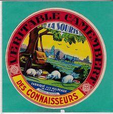 I967 FROMAGE CAMEMBERT LA SOURIS LES AULNEAUX SARTHE  ATTELAGES DE BOEUFS