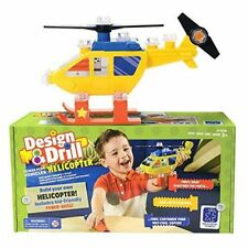 Design & Drill Power Play Vehicles Helicopter with power drill!