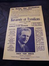 Spartito La revue orchestre e di l'Vac Bavarese e tirolese FURGONE HERCK