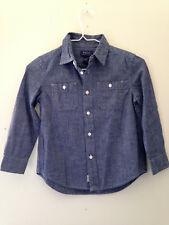 NWT POLO Ralph Lauren Boys' Long Sleeve Blue Cotton Button Up Dress Shirt 5 $45