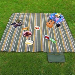Picknickdecke Stranddecke wasserdichte Fleece Thermoisoliert Reisedecke Picknick
