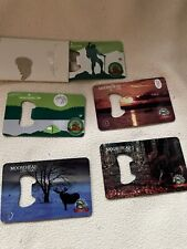 Theouterself.com Moosehead Beer Metal Credit Card Style Bottle Openers various
