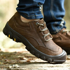 Mens vHiking Outdoor Sneakers Trail Outdoor Non-Slip Leather Lace Up Shoes Chic