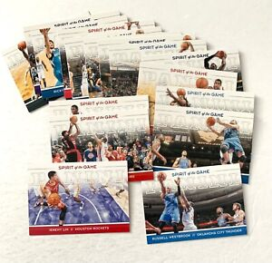 2012 Panini Spirit of the Game partial insert set, Westbrook Lin Lowry Holiday