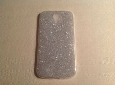 Glitter Back Clear Silcone Gel Plastic For Samsung S4 S5 S6 S7 Case Cover w44