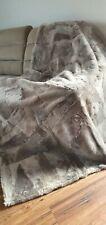 TOSCANA 100% Wool Shearling real Fur GENUINE Sheepskin Rug Wool Carpet 160x200cm