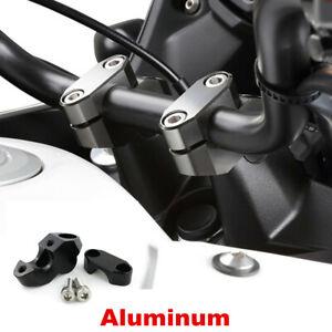 "2pcs Black Handlebar Riser Kit 7/8"" Bars 22mm Handle Bar Risers Motorcycle ATV"