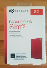Seagate 2TB Backup Plus Slim External Hard Drive Red STHN2000403 Ships 3 Day !!