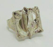 Juhls Vintage Norwegian Sterling Silver Modernist Ring sz 8