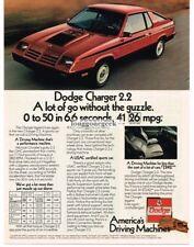 1982 Dodge Challenger 2.2 Red 2-door Coupe Vtg Print Ad