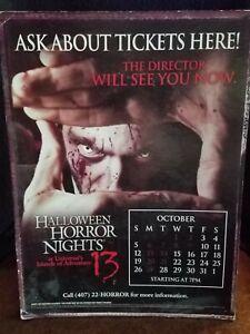 2003 Halloween Horror Nights 13 The Director Table Top Display