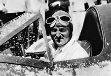 Sir Malcolm Campbell in the cockpit of his Blue Bird at Utah 1935  Poster Print