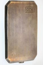ANTIQUE STERLING SILVER CIGARETTE CASE MONOGRAM OCR GOLD WASH INSIDE CASE 106.6g