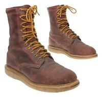 Vintage CAROLINA Work Boots 9 EE Mens Brown Leather Lace Up Work Boot Motorcycle