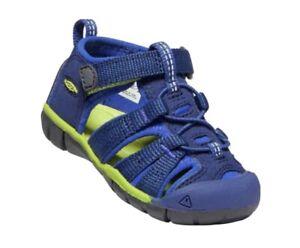 NIB Keen Seacamp ll CNX Blue Depths / Chartreuse Shoe Sandal US Little Boy 6