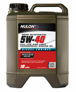 Nulon Semi Synthetic 4x4, Ute & Light Commercial Diesel Engine Oil 5W-40 10L ...