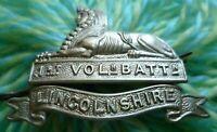 1st Volunteer Battalion Lincolnshire Cap Badge WM 2 Lugs ANTIQUE Original