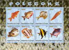Fish on Stamps -  Sheet of 8 Stamps SV0019