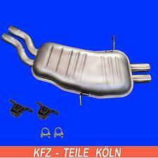 BMW E46 - 320 325 330  ENDSCHALLDÄMPFER Auspuf Schalldämpfer + Montagesatz