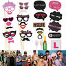 30x Full Set Hen Party Selfie Photo Props Booth Night Games Wedding Accessories.