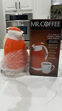 MR. COFFEE Thermal Carafe 32 oz White Double Wall Glass Liner Brand New