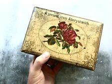 Antique Victorian Welsh Wooden Souvenir Box 'Aberystwith'
