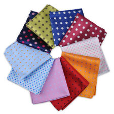 Men Polka Dot Pocket Square Hankerchief Paisley Dot Floral Hanky Wedding Party