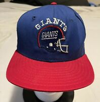 Vintage 90s New York Giants Blue Snapback Hat Cap Pro Line Made In The USA!