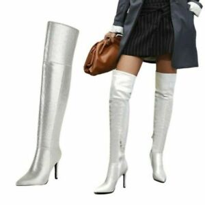 Women's High Heel Sexy Pointed Toe Over The Knee Boots Nightclub Outdoor Shoes