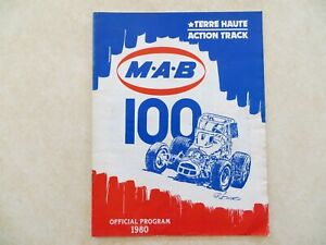 October 19, 1980 MAB 100 USAC Champ Car Sprint Car Souvenir Program + Entry List