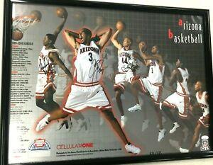 1999-00 Arizona Wildcats Basketball Autograph Poster Richard Jefferson JSA